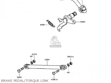 Kawasaki Kz550h2 Gpz 1983 Usa Canada Brake Pedal torque Link
