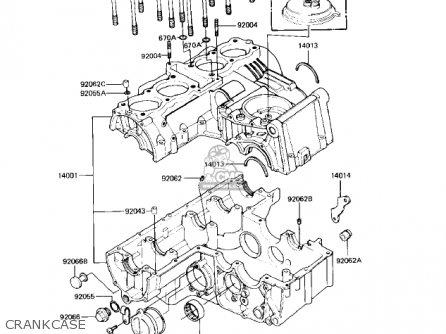 Kawasaki Kz550h2 Gpz 1983 Usa Canada Crankcase
