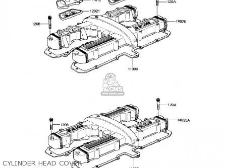 Kawasaki Kz550h2 Gpz 1983 Usa Canada Cylinder Head Cover