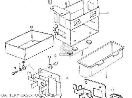 Kawasaki Kz650b3 1979 Usa Canada   Mph Kph Battery Case tool Case