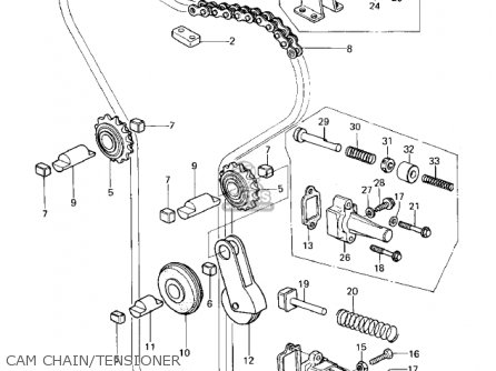 Kawasaki Kz650b3 1979 Usa Canada   Mph Kph Cam Chain tensioner