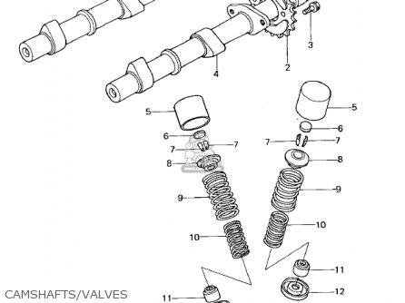 Kawasaki Kz650b3 1979 Usa Canada   Mph Kph Camshafts valves