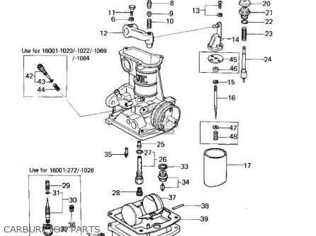 Kawasaki Kz650b3 1979 Usa Canada   Mph Kph Carburetor Parts