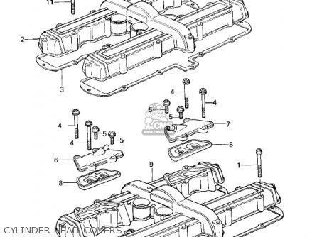 Kawasaki Kz650b3 1979 Usa Canada   Mph Kph Cylinder Head Covers