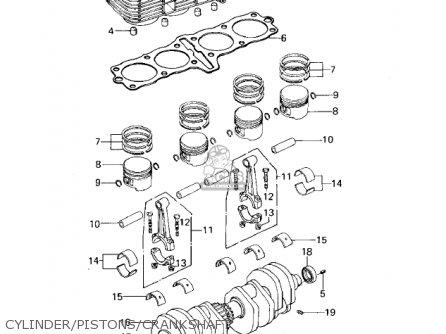 Kawasaki Kz650b3 1979 Usa Canada   Mph Kph Cylinder pistons crankshaft