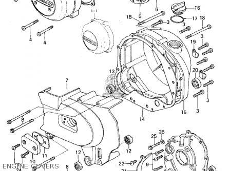 Kawasaki Kz650b3 1979 Usa Canada   Mph Kph Engine Covers
