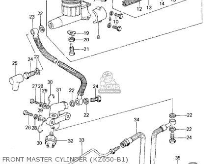 Kawasaki Kz650b3 1979 Usa Canada   Mph Kph Front Master Cylinder kz650-b1