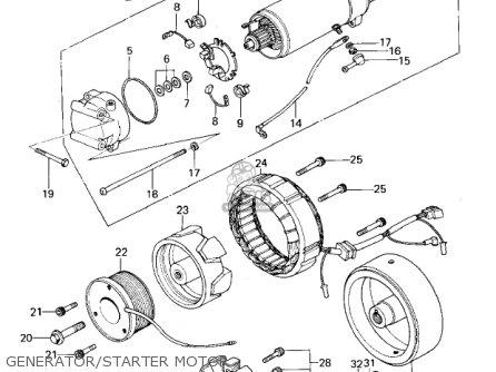 Kawasaki Kz650b3 1979 Usa Canada   Mph Kph Generator starter Motor