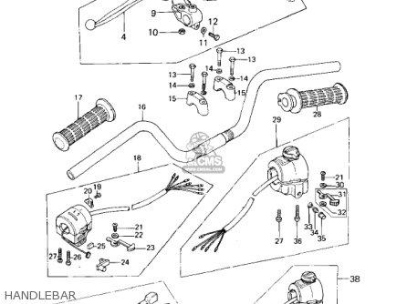 Kawasaki Kz650b3 1979 Usa Canada   Mph Kph Handlebar