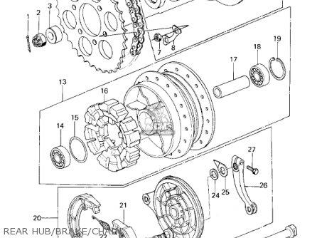 Kawasaki Kz650b3 1979 Usa Canada   Mph Kph Rear Hub brake chain
