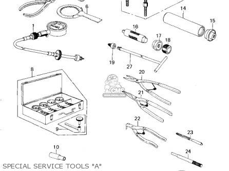 Kawasaki Kz650b3 1979 Usa Canada   Mph Kph Special Service Tools a