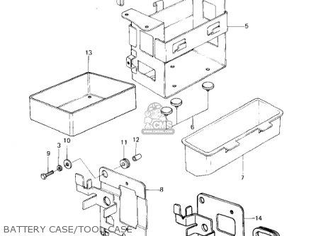 Kawasaki Kz650c1 Custom 1977 Usa Canada   Mph Kph Battery Case tool Case