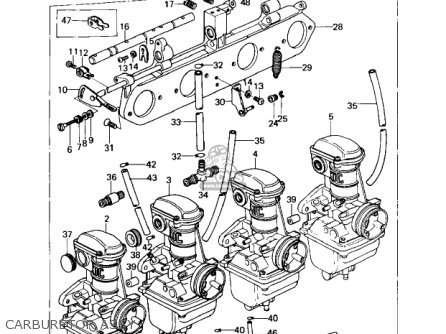 Kawasaki Kz650c1 Custom 1977 Usa Canada   Mph Kph Carburetor Assy