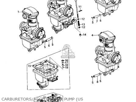 Kawasaki Kz650c1 Custom 1977 Usa Canada   Mph Kph Carburetors accelerator Pump us