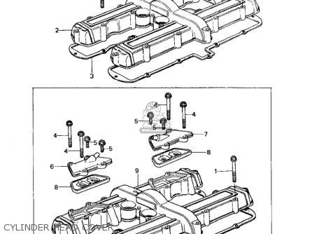 Kawasaki Kz650c1 Custom 1977 Usa Canada   Mph Kph Cylinder Head Cover