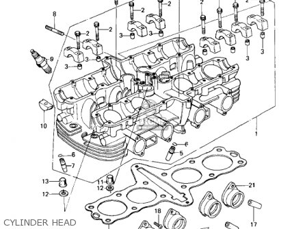 Kawasaki Kz650c1 Custom 1977 Usa Canada   Mph Kph Cylinder Head