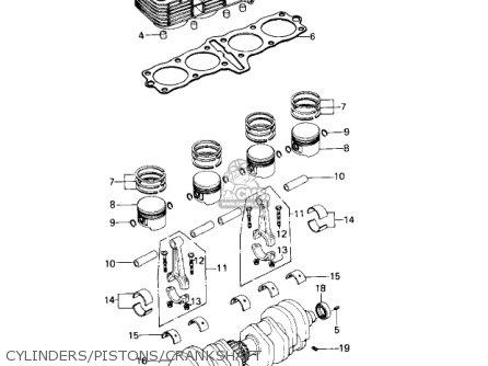 Kawasaki Kz650c1 Custom 1977 Usa Canada   Mph Kph Cylinders pistons crankshaft