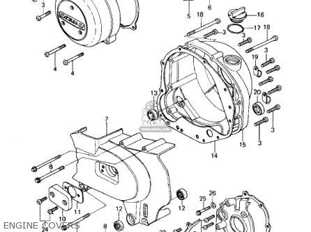 Kawasaki Kz650c1 Custom 1977 Usa Canada   Mph Kph Engine Covers