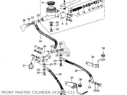 Kawasaki Kz650c1 Custom 1977 Usa Canada   Mph Kph Front Master Cylinder kz650-c1