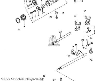 Kawasaki Kz650c1 Custom 1977 Usa Canada   Mph Kph Gear Change Mechanism