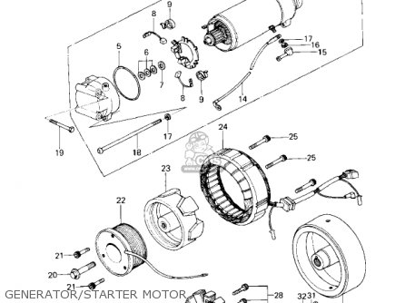Kawasaki Kz650c1 Custom 1977 Usa Canada   Mph Kph Generator starter Motor