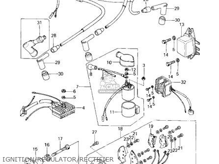 Kawasaki Kz650c1 Custom 1977 Usa Canada   Mph Kph Ignition regulator rectifier