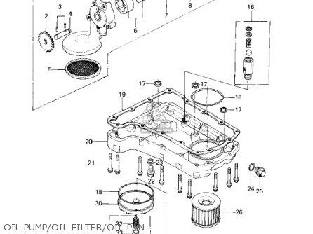Kawasaki Kz650c1 Custom 1977 Usa Canada   Mph Kph Oil Pump oil Filter oil Pan