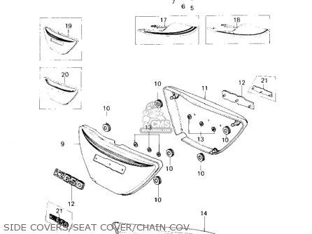 Kawasaki Kz650c1 Custom 1977 Usa Canada   Mph Kph Side Covers seat Cover chain Cov