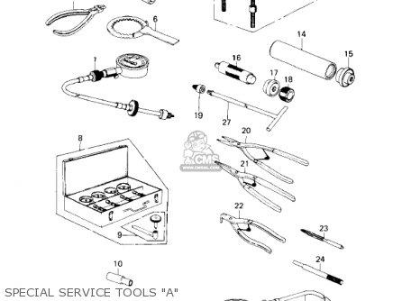 Kawasaki Kz650c1 Custom 1977 Usa Canada   Mph Kph Special Service Tools a
