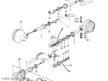 Kawasaki Kz650c1 Custom 1977 Usa Canada   Mph Kph Turn Signals