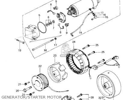 Kawasaki Kz650c3 Custom 1979 Usa Canada   Mph Kph Generator starter Motor