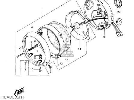 Kawasaki Kz650c3 Custom 1979 Usa Canada   Mph Kph Headlight