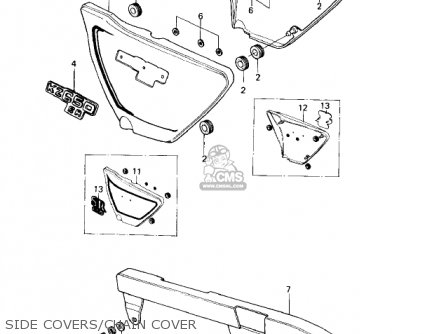Kawasaki Kz650d1 Sr 1978 Usa Canada Side Covers chain Cover