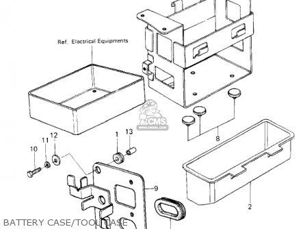 Kawasaki Kz650f1 1980 Usa Canada Battery Case tool Case
