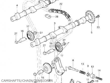 Kawasaki Kz650f1 1980 Usa Canada Camshafts chain tensioner