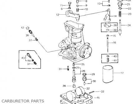 Kawasaki Kz650f1 1980 Usa Canada Carburetor Parts
