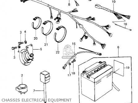 Kawasaki Kz650f1 1980 Usa Canada Chassis Electrical Equipment