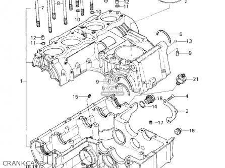 Kawasaki Kz650f1 1980 Usa Canada Crankcase