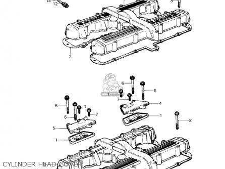 Kawasaki Kz650f1 1980 Usa Canada Cylinder Head Cover