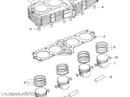 Kawasaki Kz650f1 1980 Usa Canada Cylinder pistons