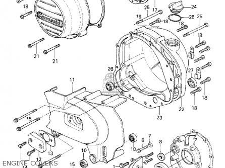 Kawasaki Kz650f1 1980 Usa Canada Engine Covers