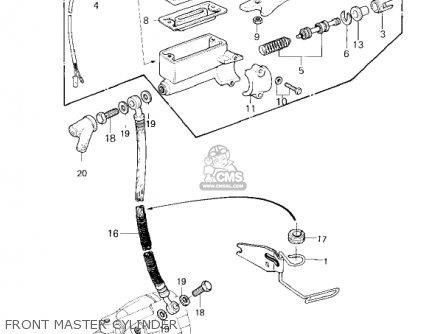 Kawasaki Kz650f1 1980 Usa Canada Front Master Cylinder