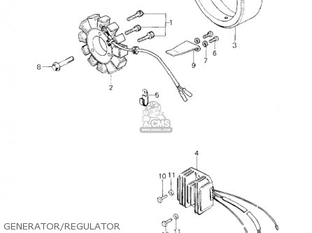 Kawasaki Kz650f1 1980 Usa Canada Generator regulator