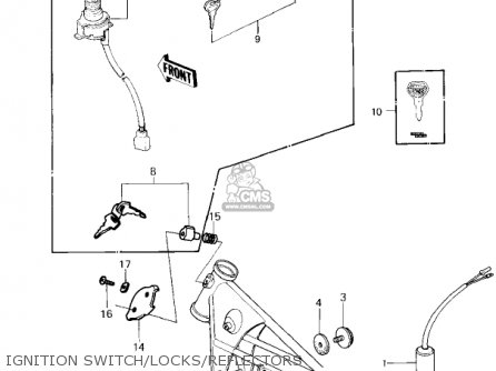 Kawasaki Kz650f1 1980 Usa Canada Ignition Switch locks reflectors