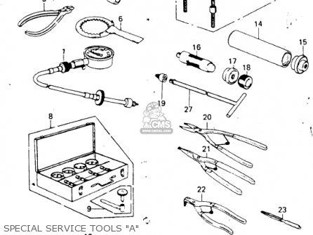 Kawasaki Kz650f1 1980 Usa Canada Special Service Tools a