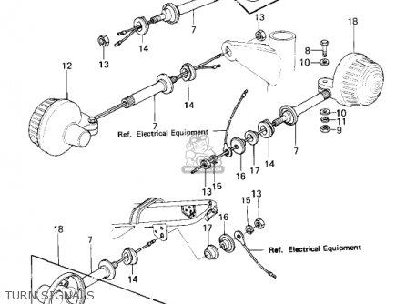 Kawasaki Kz650f1 1980 Usa Canada Turn Signals