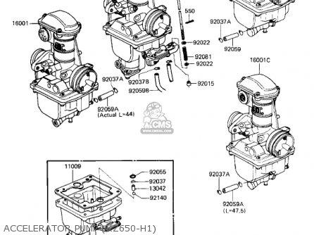 Kawasaki Kz650h3 Csr 1983 Usa Canada Accelerator Pump kz650-h1