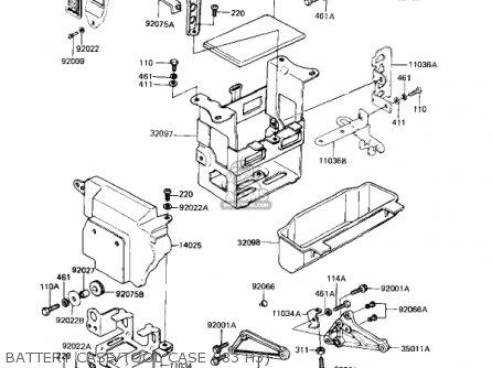 Kawasaki Kz650h3 Csr 1983 Usa Canada Battery Case tool Case 83 H3