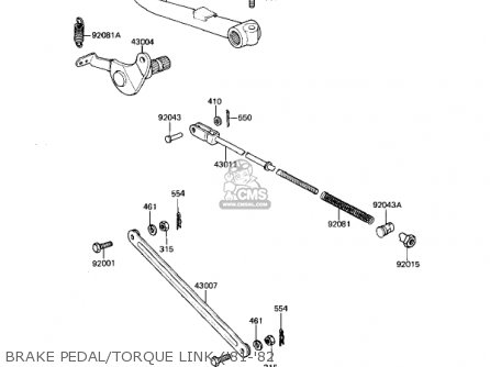 Kawasaki Kz650h3 Csr 1983 Usa Canada Brake Pedal torque Link 81-82