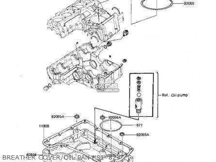 Kawasaki Kz650h3 Csr 1983 Usa Canada Breather Cover oil Pan 81-82